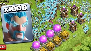 1000 Ice Wizard Marvelous Attack On COC | Mod Server GamePlay