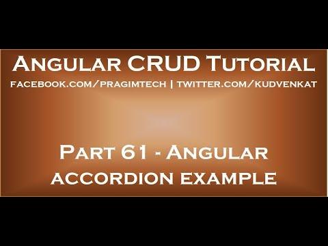 Angular Accordion Example