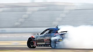 1000hp 3 Rotor, big tire smoke, wall tap Mazda RX-8 Drifting Formula D Texas 2015