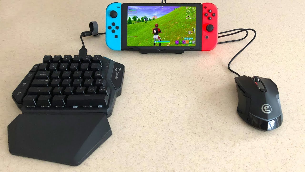 11936cd7bd4 MOUSE and KEYBOARD on Fortnite Nintendo Switch... (GameSir VX Aimswitch)