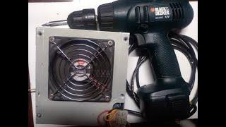 Переделка аккумуляторного шуруповерта в сетевой