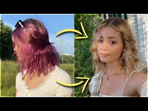 GOING FROM PURPLE TO BLONDE HAIR (+ how to remove hair dye)