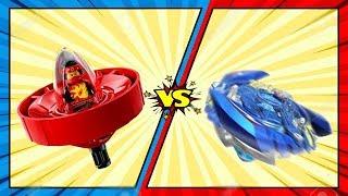 Ниндзяго против Бейблэйда! Кто победит? Лего мультик для мальчиков. Новые мультфильмы 2018