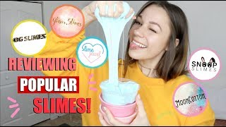 SLIME PACKAGE REVIEW FROM FAMOUS SLIME SHOPS! (DID I LIKE THEM?😱)
