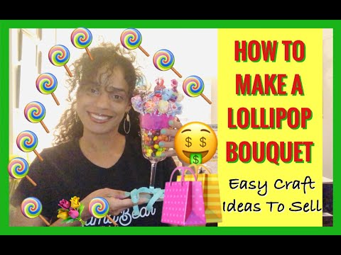 craft-ideas-to-sell-from-home-|-best-way-how-to-make-a-lollipop-bouquet-|-diy-to-sell