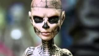 zombie boy rick genest ooak monster high doll