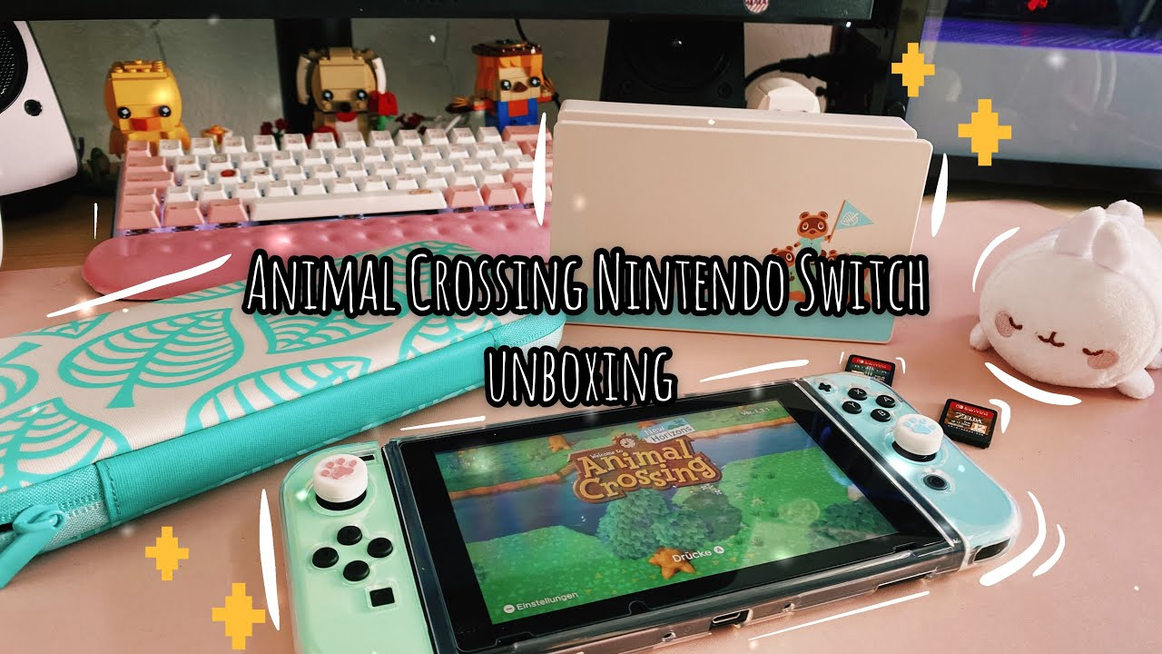 unboxing my Nintendo Switch Animal Crossing edition ...