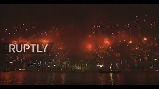 LIVE: Hong Kong throws firework party to ring in 2018