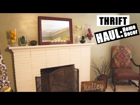 Thrift haul home decor more march 2016 doovi for Room decor haul