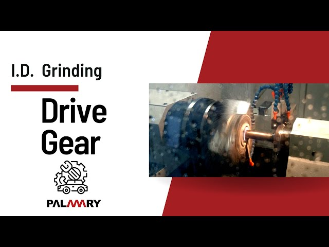 PALMARY▶No.210402 | Drive Gear grinding with diaphragm chuck _ I.D. grinding - Internal Grinder