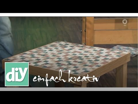 couchtisch mit mosaikfliesen in naturstein diy einfach kreativ. Black Bedroom Furniture Sets. Home Design Ideas