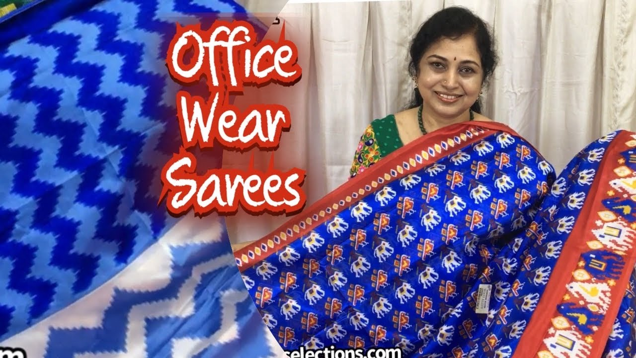 Office wear sarees, surekha Selections,