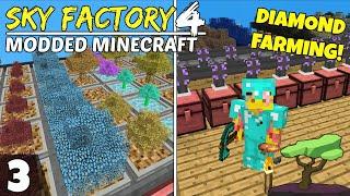 Sky Factory 4 Ep3! Diamond Farming & Automation! Modded Minecraft Skyblock, Survival Lets Play!