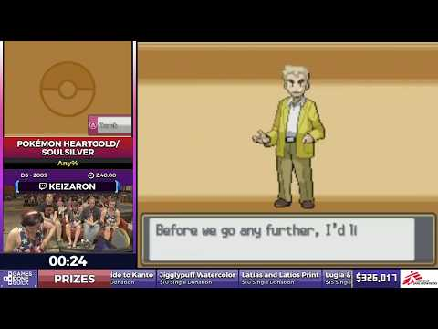 Pokémon HeartGold/SoulSilver By Keizaron In 2:36:24 - SGDQ2017 - Part 48