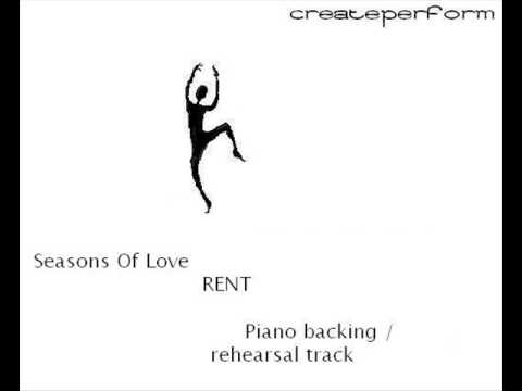 Seasons Of Love Piano Instrumental Karaoke Track for audition / rehearsal RENT