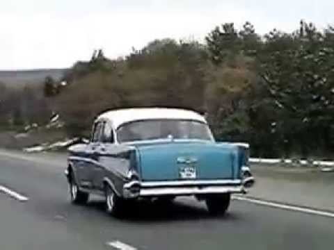 57 chevy on country road - YouTube