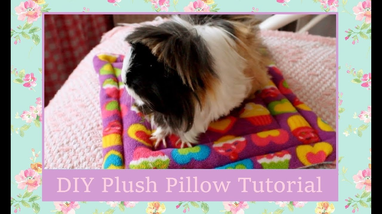 diy guinea pig plush pillow bed tutorial