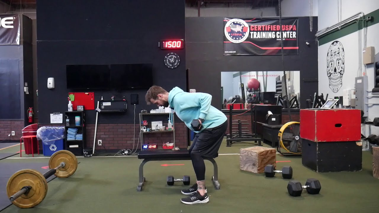 How to perform: Bent over DB row - Underhand