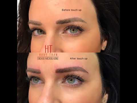 Chicago Microblading: Microblading Touchup after 1 year