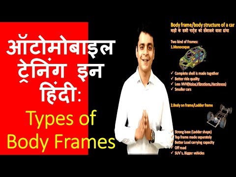 Types of car frames-Monocoque & Body on frame(Ladder Frame):Automobile Hindi