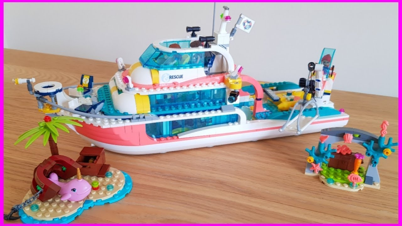 LEGO Friends Rescue Mission Boat - 41381 Speed build ...