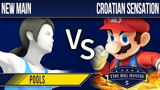 TBH5 Smash 4 - New Main (Wii Fit Trainer) vs Croatian Sensation (Mario) - Pools