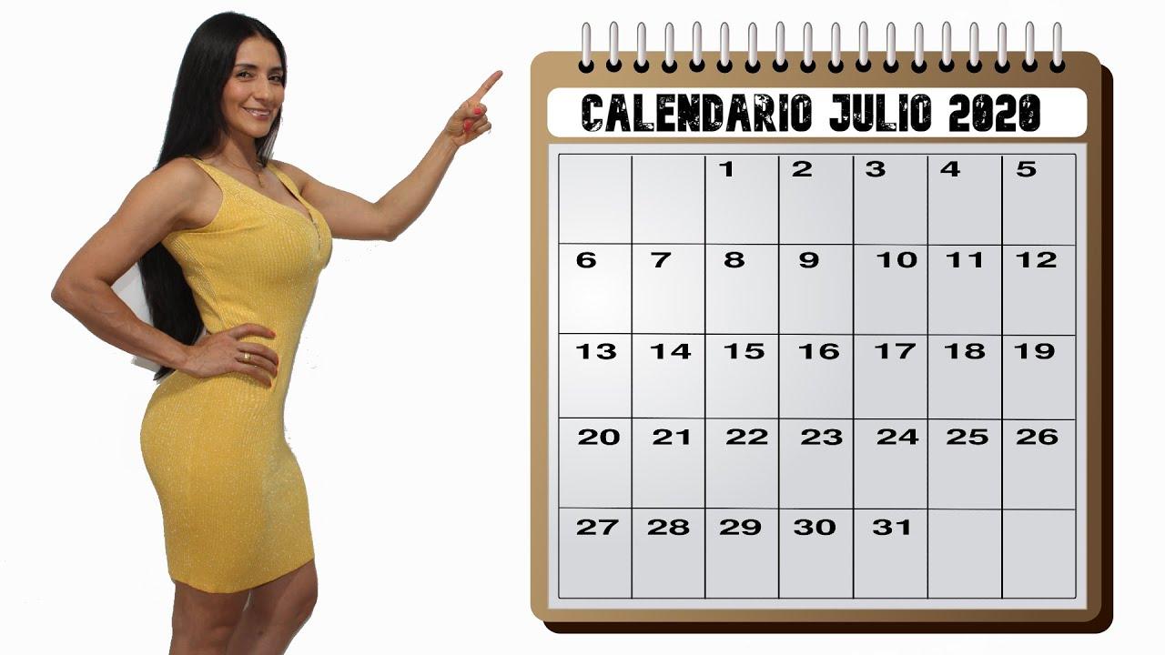 CALENDARIO ENTRENAMIENTO MES DE JULIO DE 2020 CHICAS AVANZADAS.