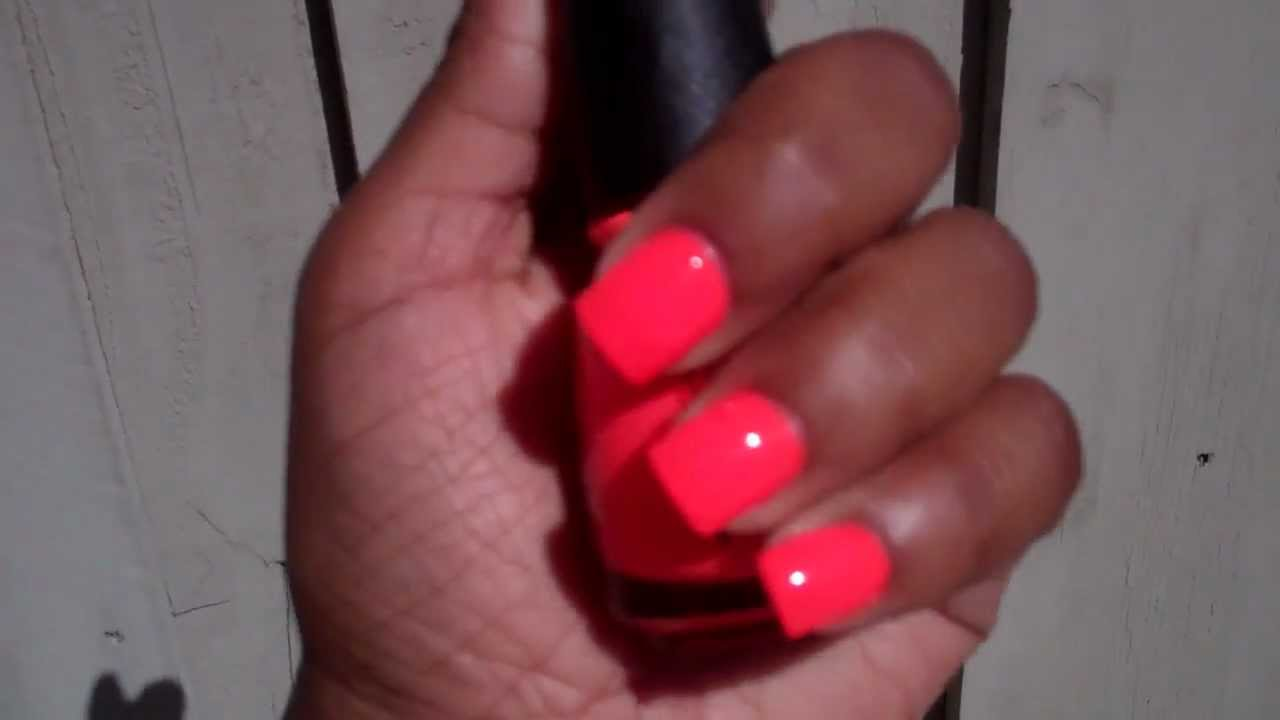 China Glaze Orange Knockout (NEON) - YouTube