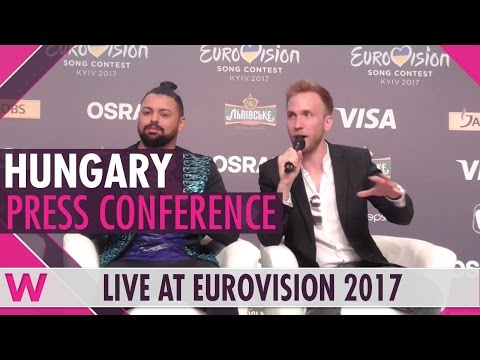 "Hungary Press Conference 2 — Joci Pápai, ""Origo"" Eurovision 2017 