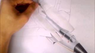 Speed Drawing: Fighter Plane