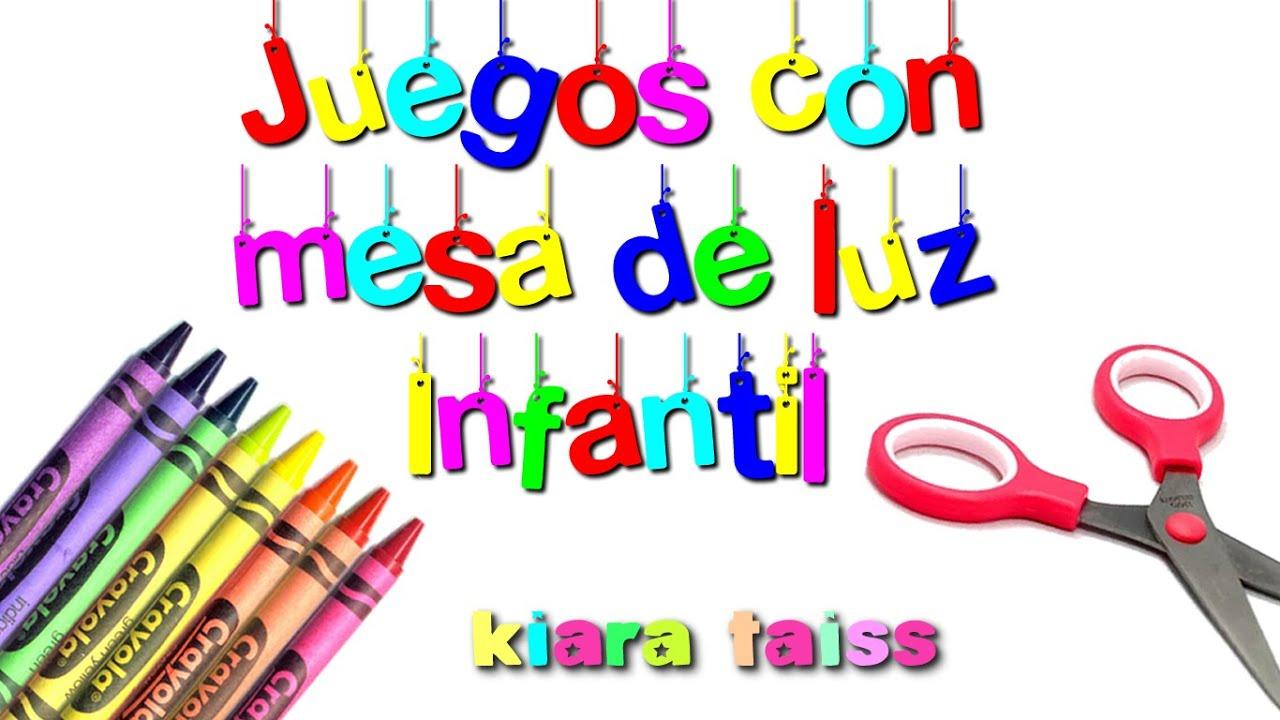 Juegos Con Mesa De Luz Infantil Manualidades Para Ninos Youtube