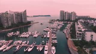 [ Natural 4k ] One minute in Singapore || Flycam 4k