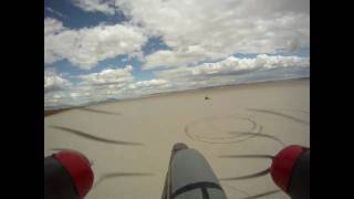 Home Made Foam Twin Engine Rc Airplane - With Helmet Cam On Board At The Alvord Desert