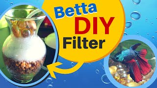 how to make a easy diy aquarium filter for betta fish   sponge air pump filter