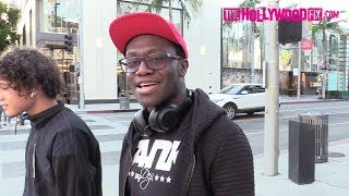 Deji Speaks On The Beef With His Brother KSI, Jake Paul & Logan Paul While Shopping In Beverly Hills