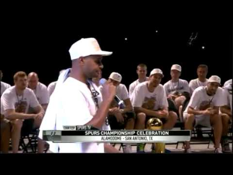 The San Antonio Spurs 2014 Championship celebration in the Alamodome