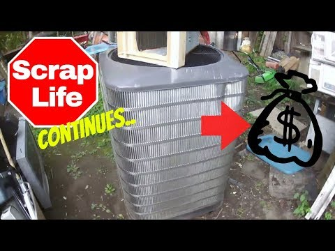 Scrapping out a GIANT stainless steel air conditioner. Reselling ebay vlog. Big non-ferrous haul.