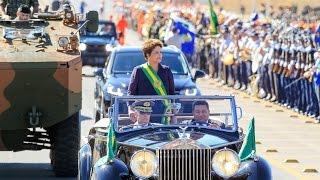 Dilma desfila ao som de Beijinho no Ombro em Brasília - 7 de Setembro de 2014