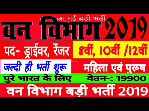 वन-विभाग-भर्ती-2019//-forest-department-vanacay-2019//forest-job-//8th-pass//no-exam-direct-//-9900