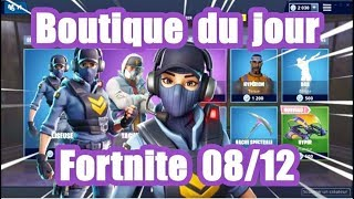 [ Fortnite] The shop of the day 8 December (skin Baliseuse)