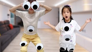 대왕 눈알 장난감? 서은이의 눈 모형 놀이 눈알 스티커 붙이기 Eye Ball Sticker and Toys