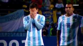 Copa America suffering Messi on penalties