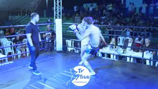 TV THAI | Vitor Sinistro ( MTB CE ) vs Jairthon ( Team Mascote ) Ultra Kickboxing 4 70kg