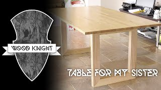 045 - Tassie Oak Dining Table For My Sister