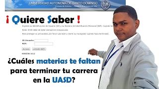 Consultar Materias que te faltan - Terminar tu carrera UASD