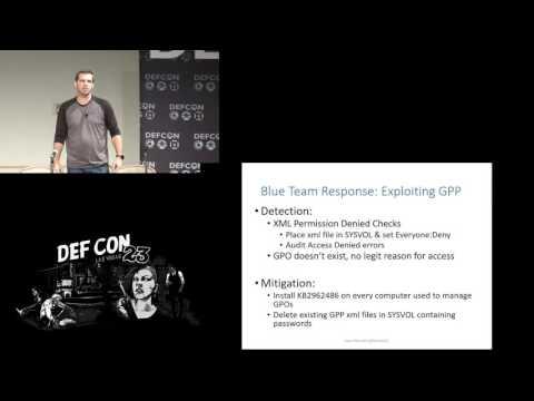 DEF CON 23 - Sean Metcalfe - Red vs Blue: Modern Active Directory Attacks & Defense