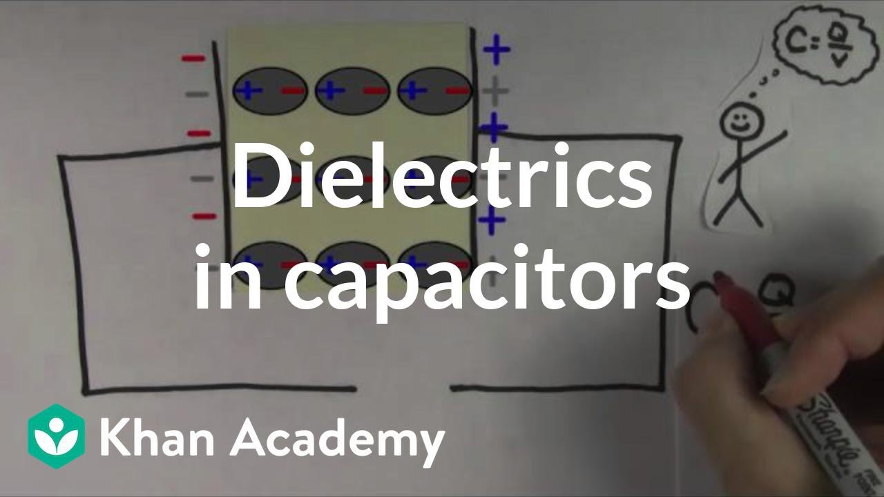 Dielectrics In Capacitors Video Circuits Khan Academy