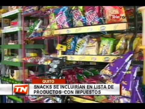 Snacks se incluirán en lista de productos con impuestos