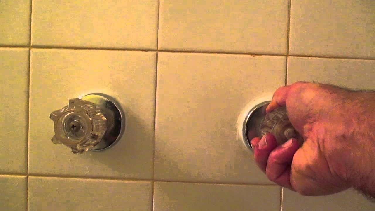 How to replace bathtub faucet handles - YouTube