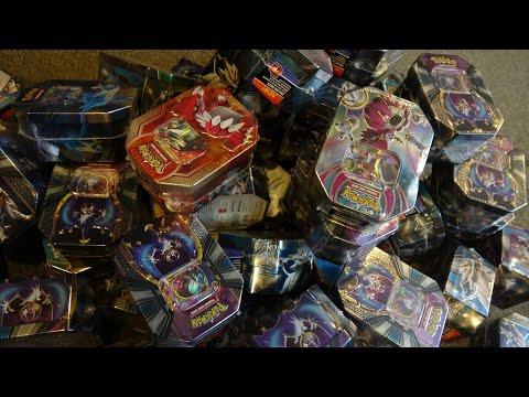 Opening 64 Pokemon tins